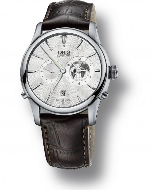 To commemorate the introduction of the Greenwich Mean Time in 1884 – 130 years ago, Oris presents this limited edition watch.  A unique time piece with the Oris World Timer function housed in the Artelier case